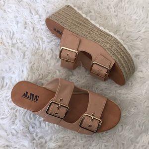 9d33a6eb0ab AMS Shoes - AMS Platform Espadrille Sandal